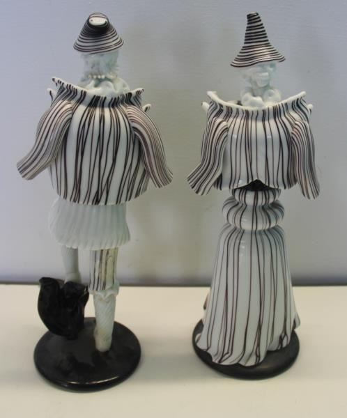 Pair of Venini Murano Glass Figures. - 6