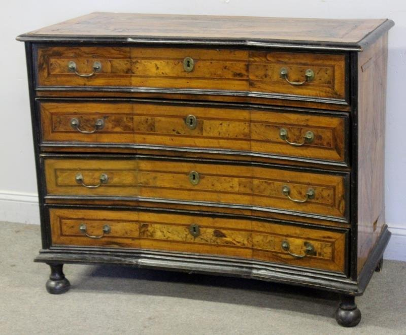 18th Century Concave Front Commode.