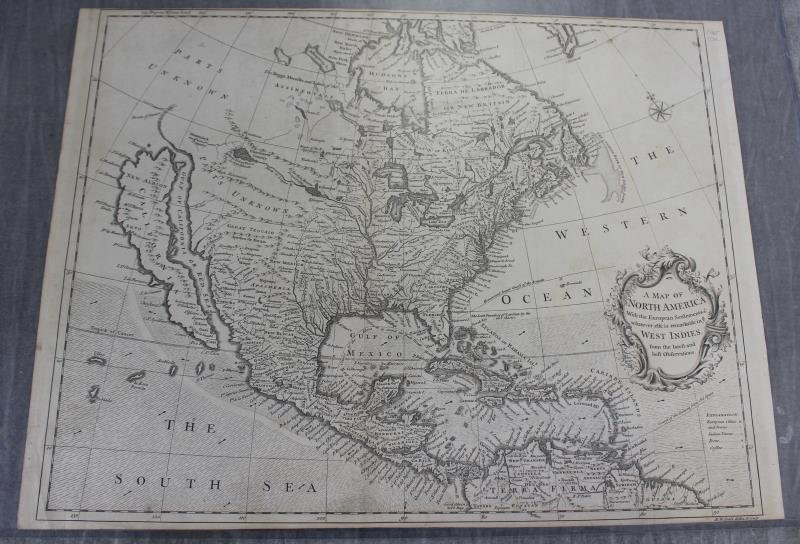 """SEALE, R.W. """"A Map of North America with the"""