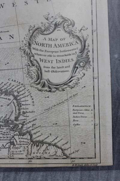 """SEALE, R.W. """"A Map of North America with the - 2"""