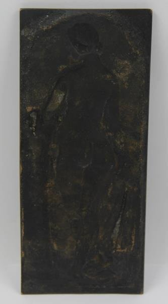 Bronze Albrecht Durer Plaque of a Figure. - 3