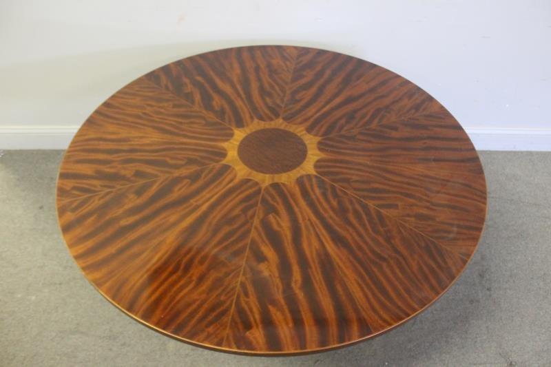 Round Mahogany Baker Coffee Table. - 2