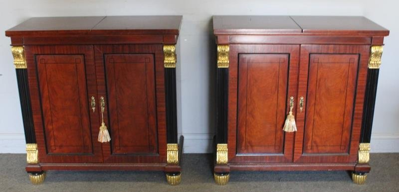 Pair of Baker Mahogany Chest of Drawers.