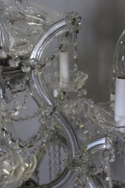 Vintage Crystal Chandelier. - 4