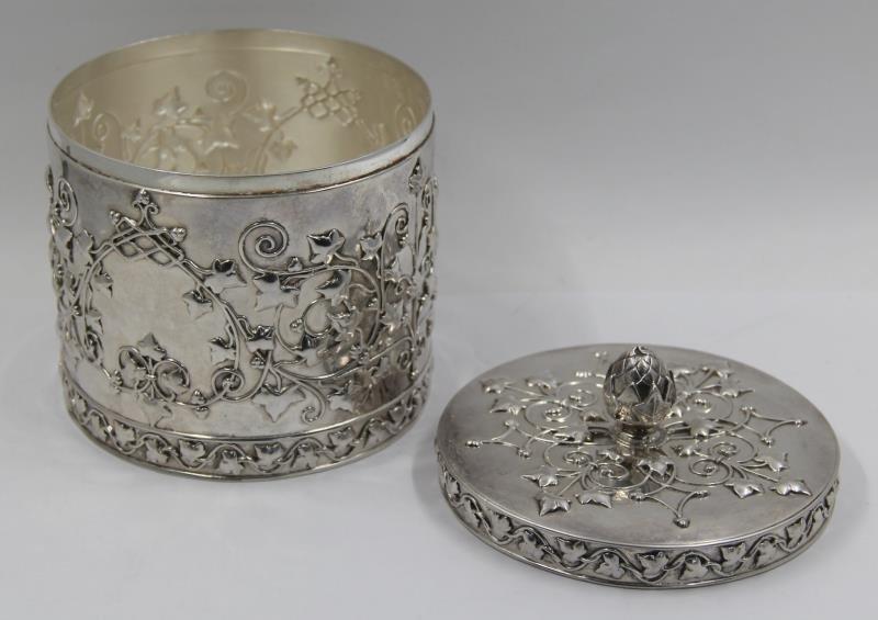 STERLING. Tiffany & Co. Sterling Lidded Vessel. - 3