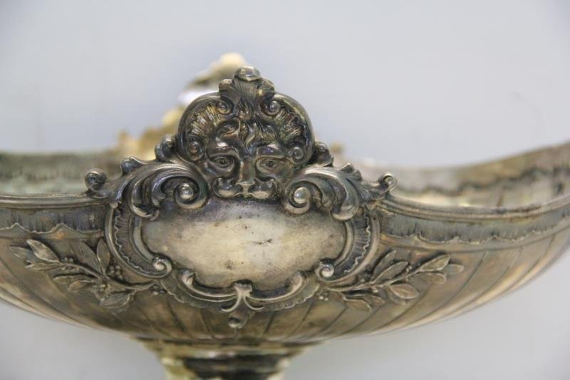 SILVER. Antique German .800 Silver Pedestal Center - 2