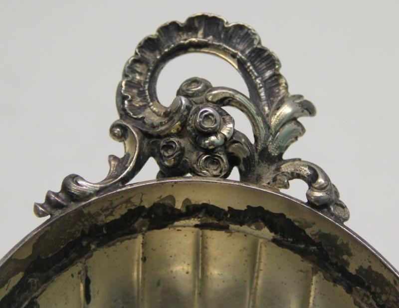 SILVER. Antique German .800 Silver Pedestal Center - 4