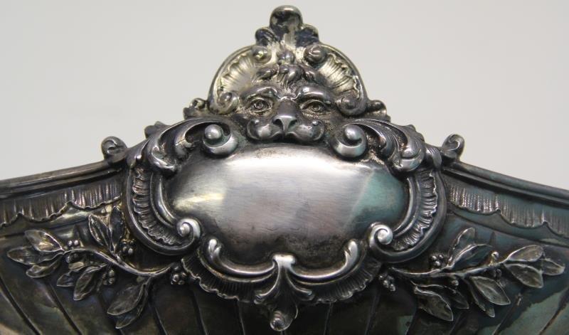 SILVER. Antique German .800 Silver Pedestal Center - 5