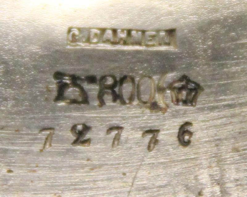 SILVER. Antique German .800 Silver Pedestal Center - 6