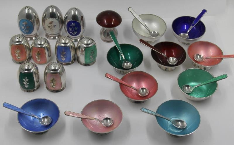 STERLING. Collection of Danish Silver Enamel