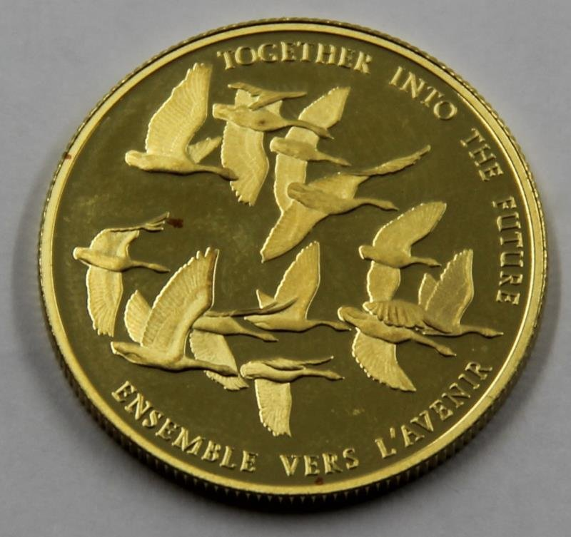 GOLD. $100 22kt 1978 Canadian Gold Coin. - 3