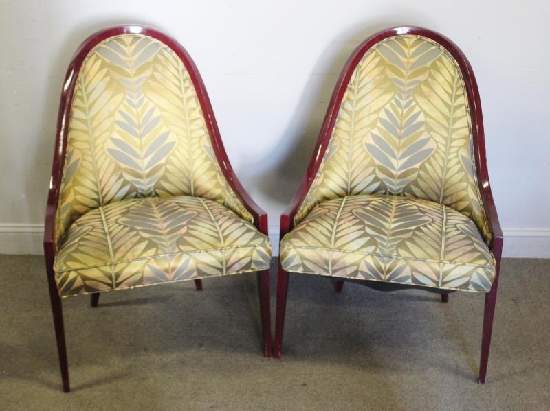 Midcentury Pair of Harvey Probber Gondola Chairs.