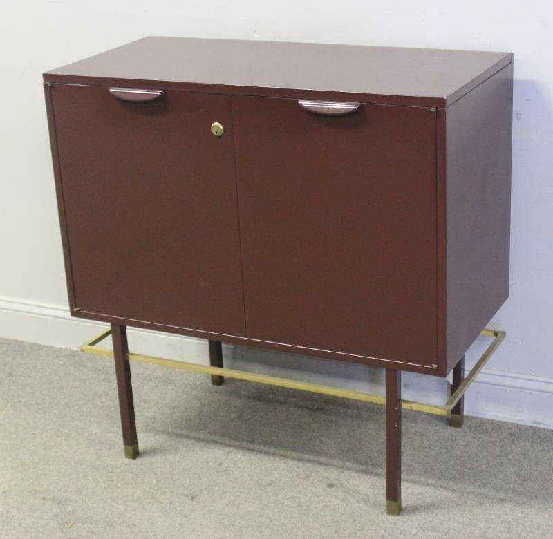 Midcentury Harvey Probber Lift Top Bar Cabinet.