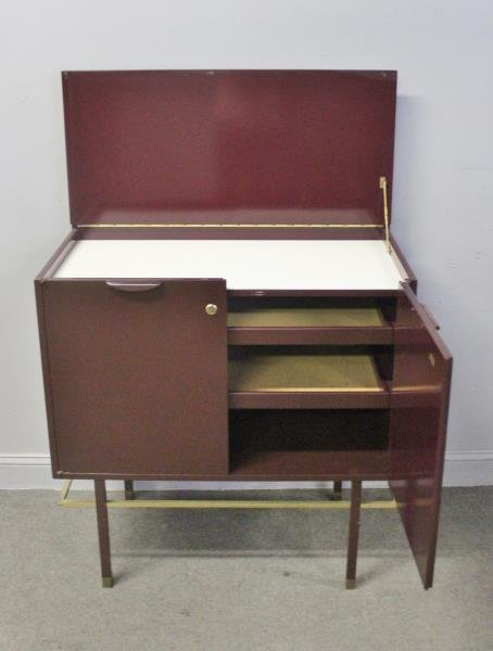 Midcentury Harvey Probber Lift Top Bar Cabinet. - 4