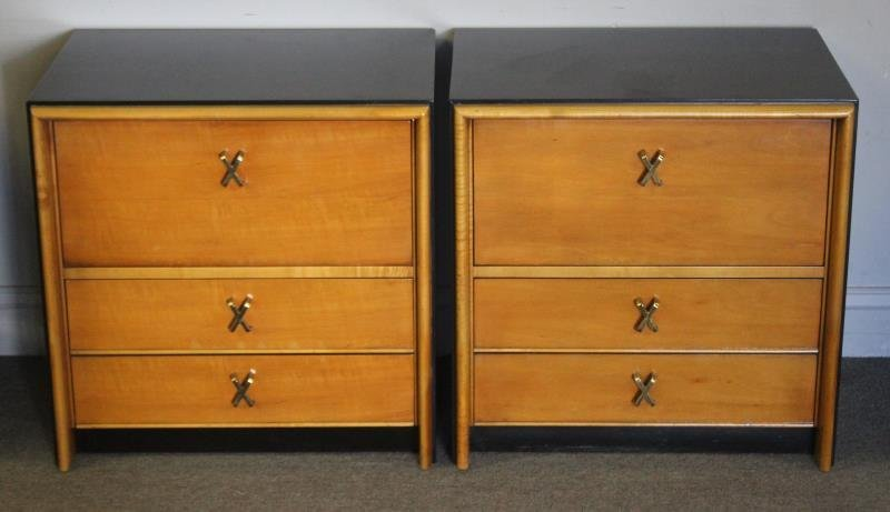 Midcentury Pair of Paul Frankl End Tables.
