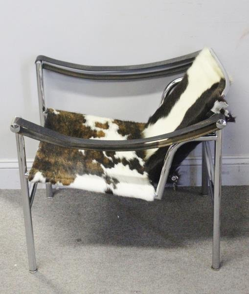 Midcentury Corbusier LC1 Chair with Pony Hair. - 2