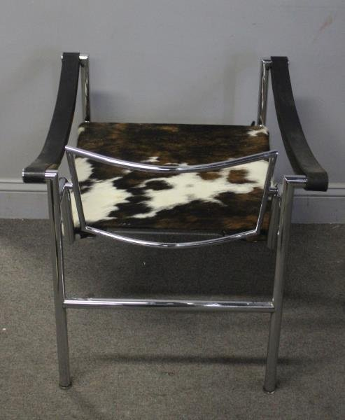 Midcentury Corbusier LC1 Chair with Pony Hair. - 5