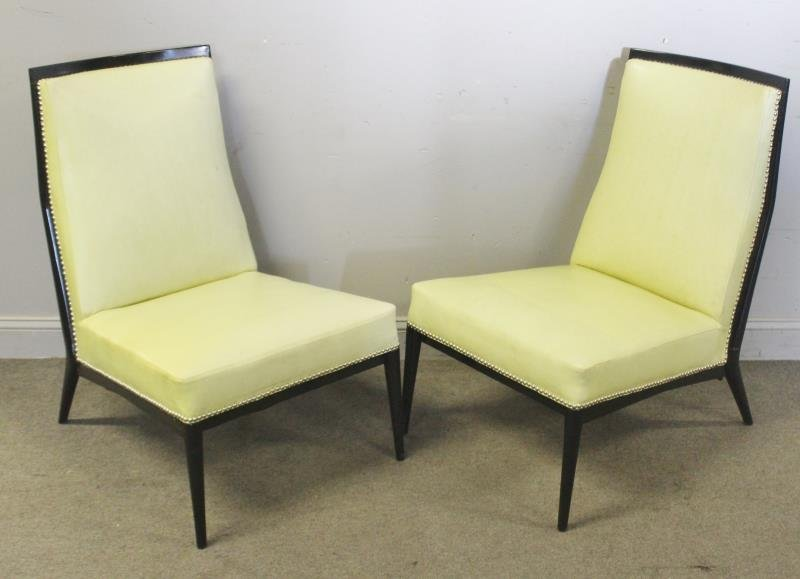 Midcentury Pair of Paul McCobb Slipper Chairs.