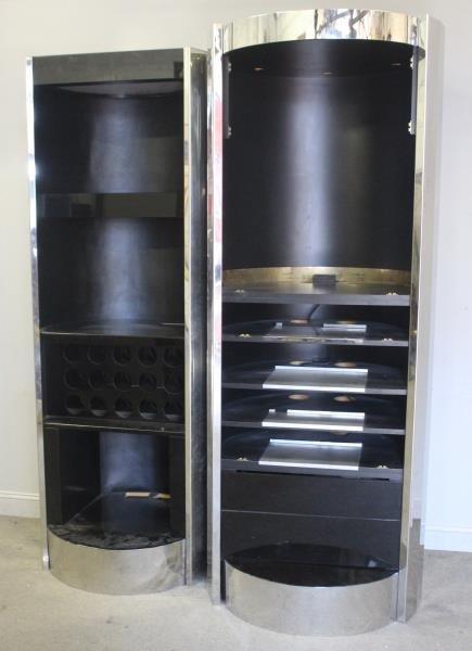Midcentury Pair Paul Evans Cityscape Bar Cabinets.