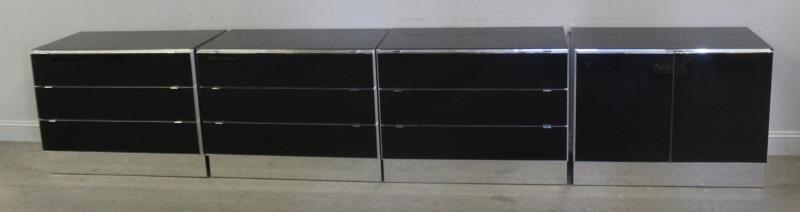 Set of 4 Italian Modern Elio Cabinets.