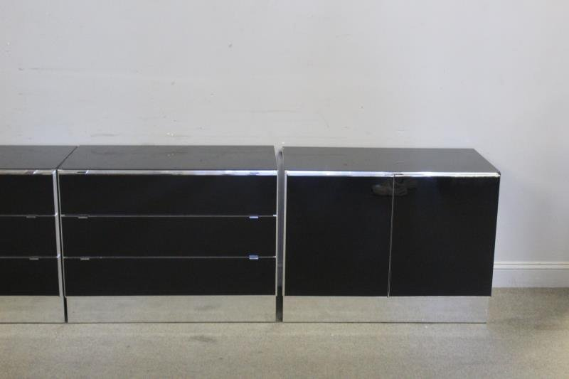 Set of 4 Italian Modern Elio Cabinets. - 2