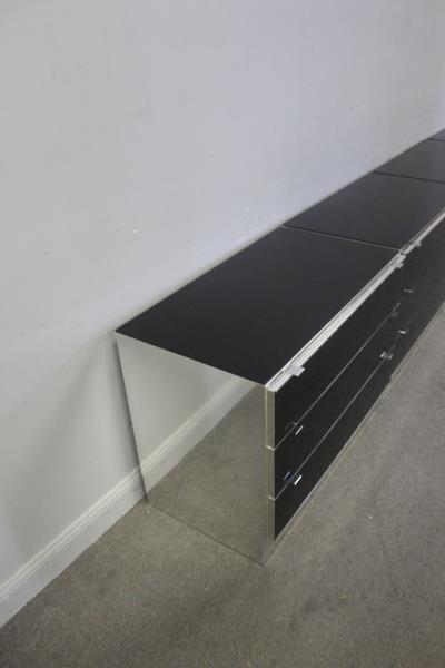 Set of 4 Italian Modern Elio Cabinets. - 5