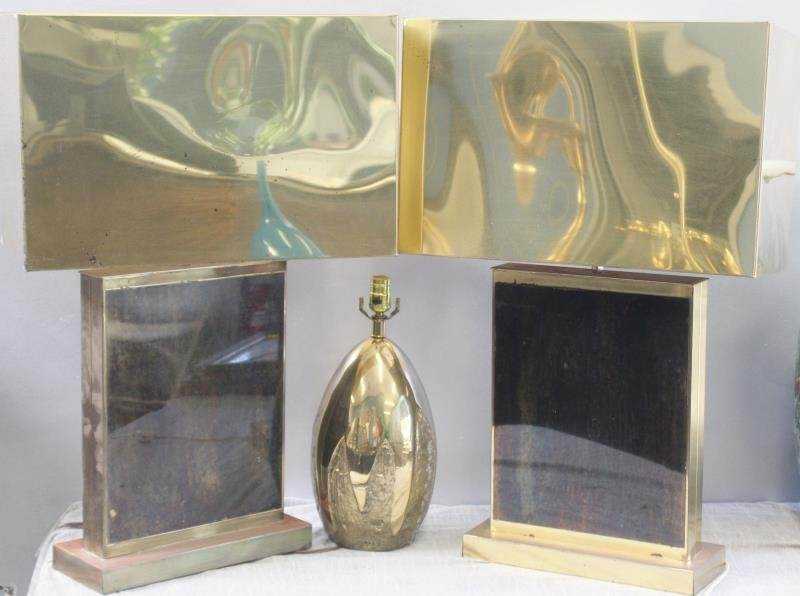 Midcentury Brass Table Lamp Lot Including C. Jere.