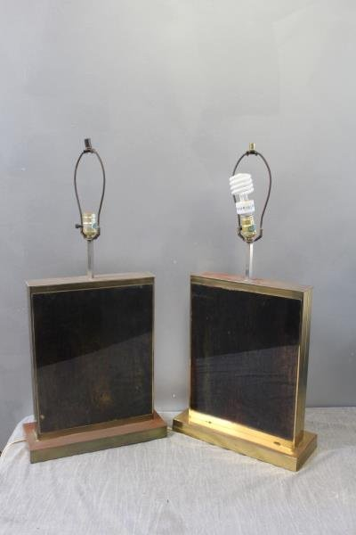 Midcentury Brass Table Lamp Lot Including C. Jere. - 2