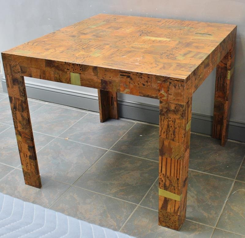 Midcentury Paul Evans Style Patchwork Game Table. - 5