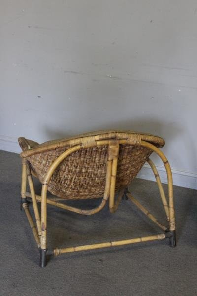 Pair of Unusual Midcentury Bamboo Lounge Chairs. - 3