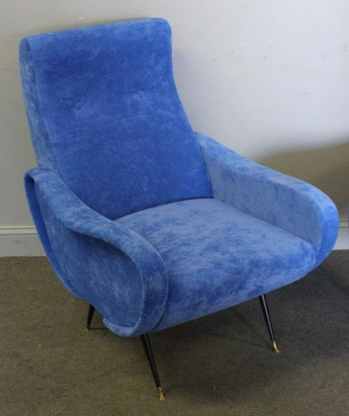 Pair of Italian Marco Zanuso Style Lounge Chairs. - 2