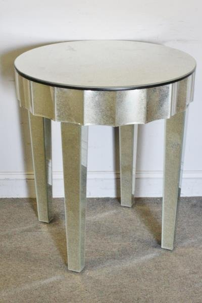 Hollywood Regency Style Mirrored Center Table.