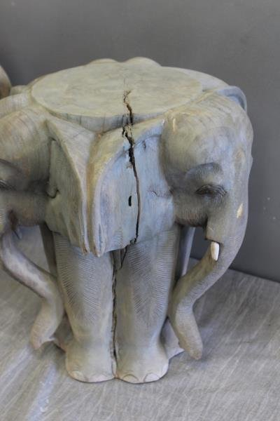 Pair of Modern Decorator Elephant Side Tables. - 3