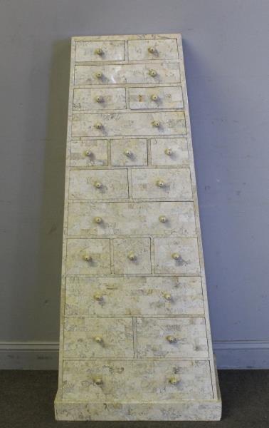 Maitland -Smith Vintage Tessalated Pyramid Cabinet