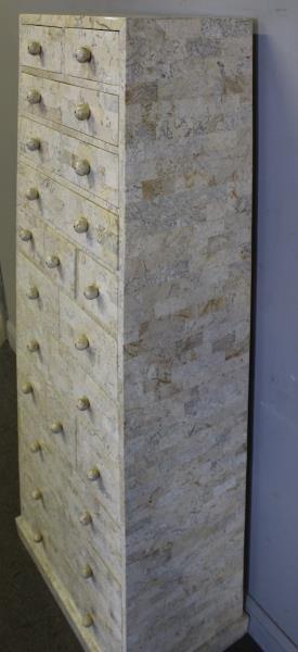 Maitland -Smith Vintage Tessalated Pyramid Cabinet - 2