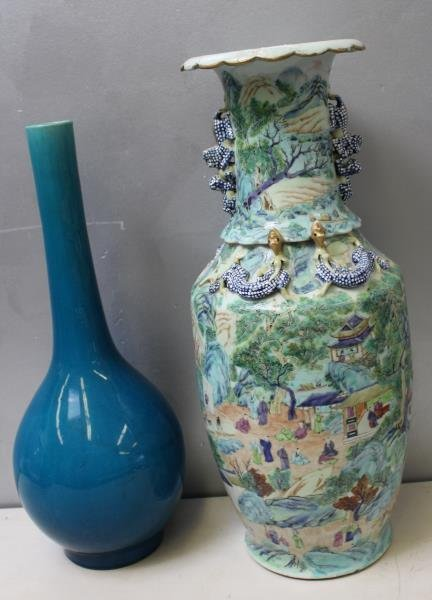 Two Chinese vases.  A Porcelain Chinese Vase