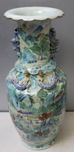 Two Chinese vases.  A Porcelain Chinese Vase - 5