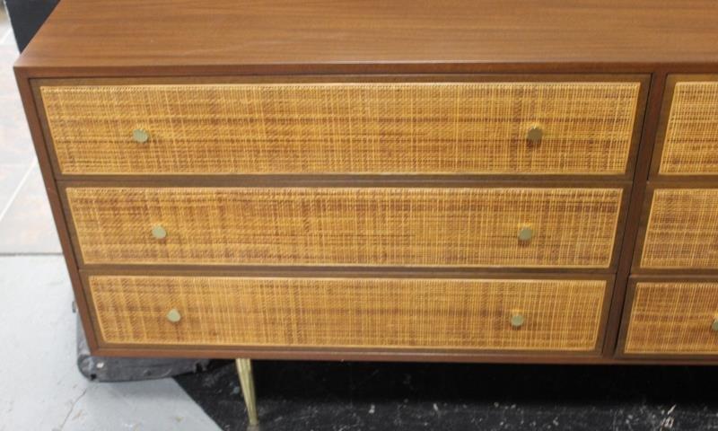 Midcentury Cane Front Harvey Prober Dresser. - 2