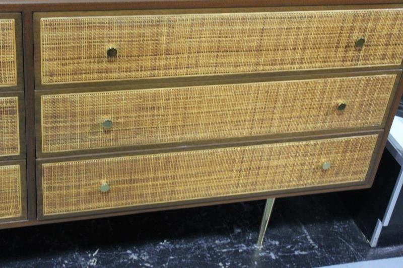 Midcentury Cane Front Harvey Prober Dresser. - 3