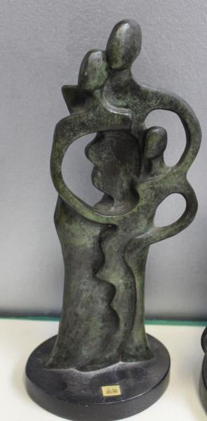 2 Patinated Bronze Abstract Figures Signed  Coste - 2