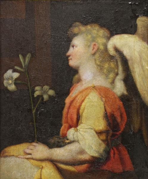 16th/17th C. Florentine School. Angel Gabriel.