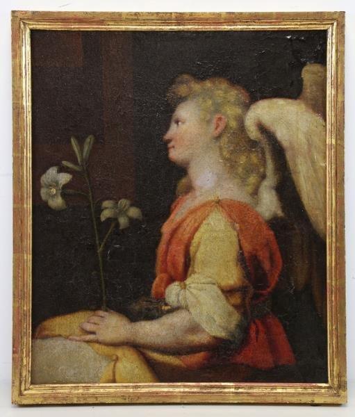 16th/17th C. Florentine School. Angel Gabriel. - 2