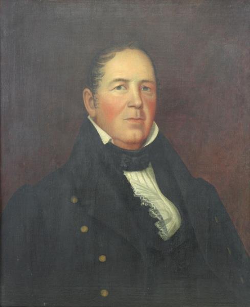 American School 19th C. Oil / Canvas Portrait of