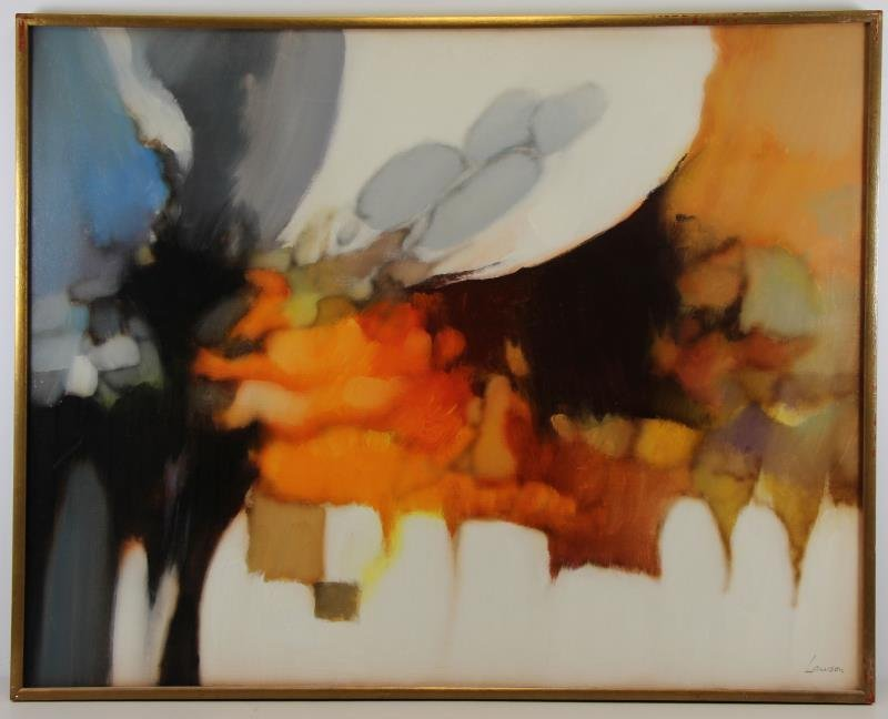 LAWSON, Robert. Abstract Oil on Canvas. - 2