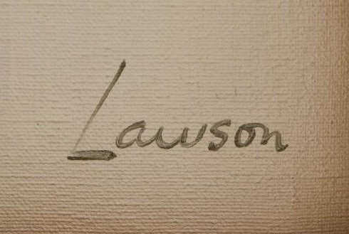 LAWSON, Robert. Abstract Oil on Canvas. - 4