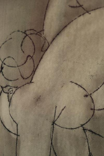 TOT, Amerigo. Ink Drawing on Paper. Two Nudes. - 3