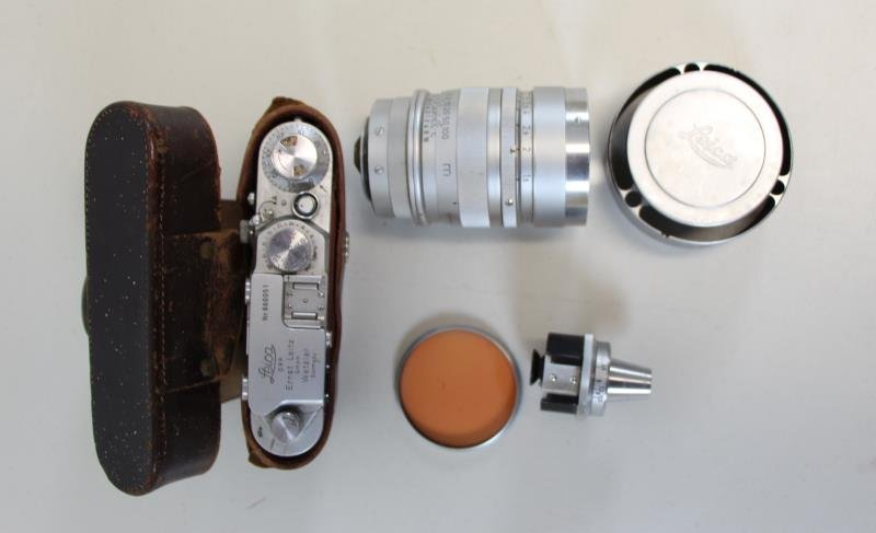 Antique Leica Camera And Accessories To Inc