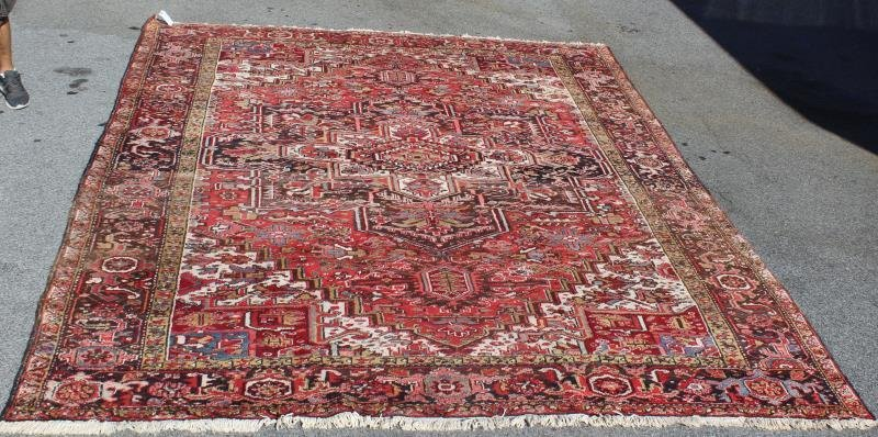Vintage And Finely Woven Heriz Style Roomsize