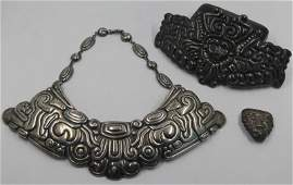 JEWELRY. Grouping of Mexican Silver Jewelry.