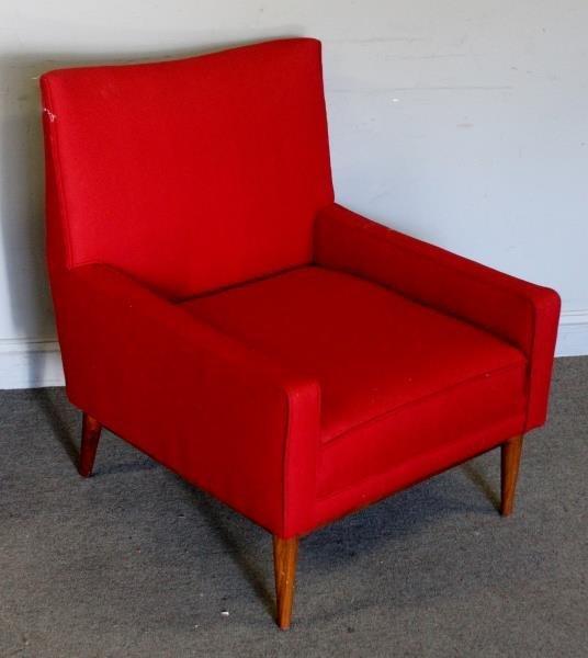Midcentury Paul McCobb Upholstered Arm Chair.